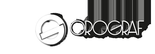 orograf logo bianco